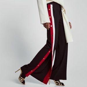 Zara black tearaway pant